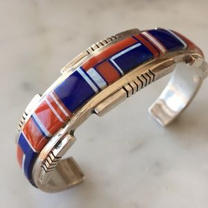 Vintage Zuni Native American Multi Stone Bracelet